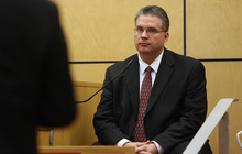 Steve Griffin | The Salt Lake Tribune  West Valley City police Officer Todd Gray testifies during the voyeurism trial for Steve Powell, the father-in-law of missing Utah woman Susan Powell, in Pierce County Superior Court in Tacoma, Wash., on Monday May 14, 2012.