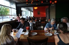 Kim Raff | The Salt Lake Tribune Long tables that seat 8, 10, 12 or more have been part of bars, barbecue joints and pizzerias for many years. But now communal tables are moving beyond casual eateries and into upscale restaurants, including Plum Alley in Salt Lake City.