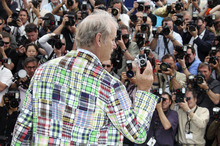 Actor Bill Murray poses during a photo call for Moonrise Kingdom at the 65th international film festival, in Cannes, southern France, Wednesday, May 16, 2012. (AP Photo/Joel Ryan)