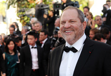 Producer Harvey Weinstein arrives for the opening ceremony and screening of Moonrise Kingdom at the 65th international film festival, in Cannes, southern France, Wednesday, May 16, 2012. (AP Photo/Joel Ryan)