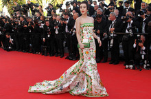 Actress Fan Bing Bing arrives for the opening ceremony and screening of Moonrise Kingdom at the 65th international film festival, in Cannes, southern France, Wednesday, May 16, 2012. (AP Photo/Joel Ryan)