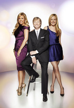 Cat Deeley, right, hosts with judges Mary Murphy, left, and Nigel Lythgoe on season nine of