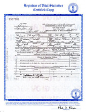 An image of the birth certificate of country music legend Loretta Lynn, who was born Loretta Webb, is seen in an image provided by the Kentucky state Office of Vital Statistics. Newly discovered documents indicate country music legend Loretta Lynn is three years older than she has led people to believe, a change that casts shadows on the story told in