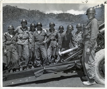 Tribune file photo  Lt. Col. Barney D. White, of Midvale, Utah, loads the 100,00th Howitzer shell fired during the Korean War. The photo is was taken on June 12, 1951.