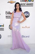 Katy Perry arrives at the 2012 Billboard Awards at the MGM Grand on Sunday, May 20, 2012 in Las Vegas, N.V.  (AP Photo/John Shearer)