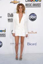 Miley Cyrus arrives at the 2012 Billboard Awards at the MGM Grand on Sunday, May 20, 2012 in Las Vegas, N.V.(AP Photo/John Shearer)