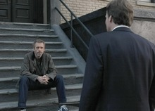 """HOUSE:  House (Hugh Laurie, L) has some news for Wilson (Robert Sean Leonard, R) in the two-hour """"Swan Song/Everybody Dies"""" HOUSE series finale event airing Monday, May 21 (8:00-10:00 PM ET/PT) on FOX.  ©2012 Fox Broadcasting Co.  Cr:  Byron Cohen/FOX"""