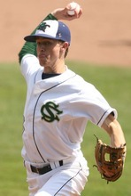 Leah Hogsten  |  The Salt Lake Tribune Snow Canyon pitcher Austin Ovard. Juan Diego High School boys baseball team defeated Snow Canyon during their first 3A State Game to force a second Saturday, May 19 2012 in Kearns.