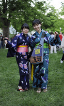 Sarah A. Miller  |  Tribune file photo Shiho Nakaura, left, and Erika Miyamori, right, visiting from Japan, pose at the 2011 Living Traditions Festival in Salt Lake City. This year's festival runs through Sunday at the Salt Lake City & County Building.