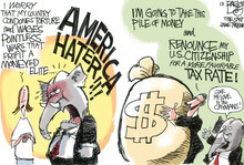 Pat Bagley cartoon for Wednesday, May 23, 2012.