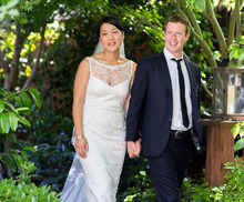 (AP Photo/Facebook, Allyson Magda Photography) Facebook proponents say that CEO Mark Zuckerberg, seen over the weekend at his wedding with wife Priscilla Chan, will figure out a way to keep the company growing.