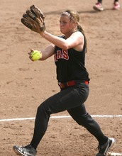 Paul Fraughton / Salt Lake Tribune Bear River's Jordan Theurer pitches her team to a victory in the 3A championship game against Spanish Fork.   Monday, May 21, 2012