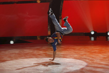 Contestant Tadd Gadduang perfoms a solo routine to