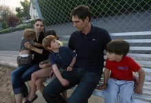 Kim Raff | The Salt Lake Tribune Josh Romney says he makes sure to get off the campaign trail during his father's bid for president and spend as much time as possible with his wife Jen and their family in Utah. He has five children.