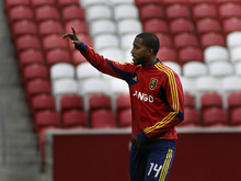 Scott Sommerdorf  |  The Salt Lake Tribune              RSL's Yordany Alvarez during practice at Rio Tinto Stadium, Thursday, May 24, 2012. Alvarez is stepping onto the field for a significant stretch of time for the first time in his short career with the team, replacing of Kyle Beckerman, who's away with the U.S. national team. It represents an amazing rise for a player who got his start in the U.S. pro leagues after defecting under cover of night from Cuba during a tournament in Florida four years ago.