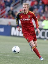 Rick Egan  | The Salt Lake Tribune   Real Salt Lake defender Nat Borchers (6) in MLS soccer action, Real Salt Lake vs FC Dallas, in Sandy, Saturday, May 26, 2012.