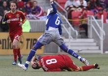 Rick Egan  | The Salt Lake Tribune   Real Salt Lake midfielder Will Johnson (8) gets tangled up with Jackson (8), in MLS soccer action, Real Salt Lake vs FC Dallas, in Sandy, Saturday, May 26, 2012.