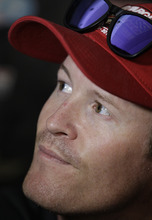 IndyCar driver Scott Dixon of New Zealand, listens to a question during media day for the Indianapolis 500 auto race at Indianapolis Motor Speedway, Thursday, May 24, 2012, in Indianapolis. (AP Photo/Darron Cummings)