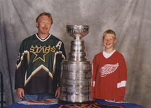Randy and Trevor Lewis, 1999. Courtesy photo