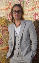 Brad Pitt poses for portraits for the film Killing Them Softly, during the 65th Film Festival in Cannes, France, Wednesday, May 23, 2012. (AP Photo/Joel Ryan)