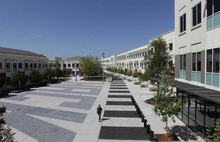 FILE - This May 11, 2012 file photo shows the Facebook campus in Menlo Park, Calif. Facebook's expansion plans are expected to get final approval from the Menlo Park City Council, allowing the social network company to employ up to 6,600 people from its current total of about 3,500 workers. (AP Photo/Jeff Chiu, file)
