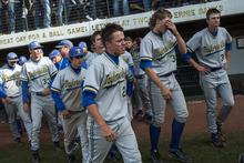 Chris Detrick  |  The Salt Lake Tribune Members of the Taylorsville baseball team walk off of the field after the 5A championship game at Kearns High School Friday May 25, 2012.  American Fork won the game 5-4.