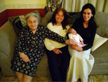 Four generations of Italian Mormons: Maria Neri (great-grandma), Cecilia Panebianco (grandma), Sara Squarcia (mother), Rebecca Dini Ciacci (daughter). Courtesy Alessandro Dini Ciacci