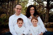 Alessandro Dini Ciacci, Sara (wife), and children Rebecca and Filippo attend a Mormon ward in Rome. Courtesy K Joy Photography