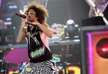 Kim Raff | The Salt Lake Tribune LMFAO performs at the Maverick Center in West Valley City, Utah on May 30, 2012.