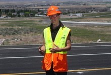 Rick Egan  | The Salt Lake Tribune   Teri Newell, project director of the Mountain View Corridor, says the first new section of Mountain View Corridor Highway will open Saturday -- six months ahead of scheduled -- to help alleviate congestion in the Herriman and Riverton areas.