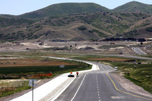 Rick Egan  | The Salt Lake Tribune   View of the first section of the Mountain View Corridor, looking North, Thursday, May 31, 2012.  The road opens on Saturday.