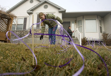 Al Hartmann  |  The Salt Lake Tribune  Friends and family of Susan Powell put purple ribbons around her West Valley City home in 2010, along with signs saying that she is loved, missed and that she will be found. The missing woman's parents now have control of the home.