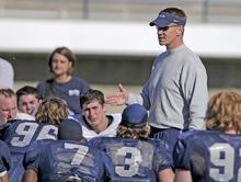 Gary Andersen. Photo credit Ryan Talbot, USU Staff Photographer. Utah State football spring scrimmage