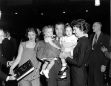 Jack Dempsey is shown with his family on