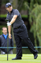 Daniel Summerhays watches his ball after teeing off on the ninth tee during the second round of the Memorial golf tournament at the Muirfield Village Golf Club in Dublin, Ohio, Friday, June 1, 2012. (AP Photo/Tony Dejak)