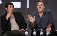 Australian actor Robert Taylor, right, and Actor Lou Diamond Phillips, left, participate in the A&E Network portion of the Television Critics Association Winter Press Tour in Pasadena , Calif. on Friday, Jan. 13, 2012. (AP Photo/Danny Moloshok)