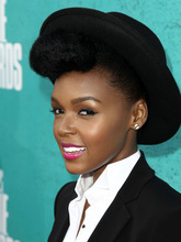 Janelle Monae arrives at the MTV Movie Awards on Sunday, June 3, 2012 in Los Angeles. (Photo by Matt Sayles/Invision/AP)