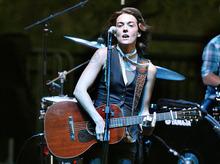Scott Sommerdorf  |  The Salt Lake Tribune Brandi Carlile performs in concert at Red Butte Amphitheater, Sunday, August 21, 2011.