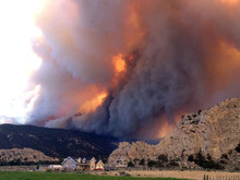 The Lost Lake Fire topped 2,300 acres Thursday, and several summer homes in the area remained evacuated. (Photo courtesy Carol Gnade)