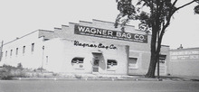 Shortly after he Returned to civilian life in 1945 Izzi remodeled Wagner Bag Company to unify the working area and add more space for manufacturing. He expanded to the east and added a second more visible sign. He also moved his mother, Rose, and his brother, Abe to a house in the Sugarhouse area. Courtesy Don Gale