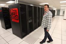 Steve Griffin  |  The Salt Lake Tribune Ralph Yarrow in the Thinkatomic server room in their Orem, Utah  offices.