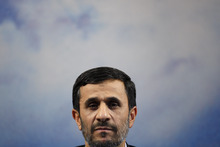 FILE - In this Sept. 7, 2009 file photo, Iranian President Mahmoud Ahmadinejad listens to a question during a press conference at the presidency in Tehran, Iran. The one-time favored son of Iran's theocracy is now limping into his last year in office sharply weakened and in the unexpected position as an outcast among hard-liners. (AP Photo/Vahid Salemi, File)