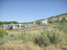 Tom Wharton  |  The Salt Lake Tribune The Shooting Star Drive-In near Escalante features Airstream trailers, vintage convertibles and a drive-in movie screen.