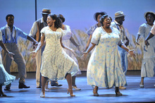 Audra McDonald, left, and the cast of
