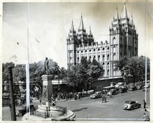 Tribune file photo  A view of Temple Square from 1937.