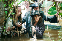 Johnny Depp, Penelope Cruz and Ian McShane in