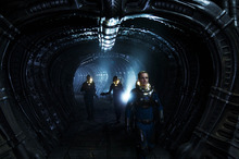 This film image released by 20th Century Fox shows Michael Fassbender, right, in a scene from