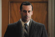 This publicity image released by AMC shows Jon Hamm as Don Draper in a scene from the finale of