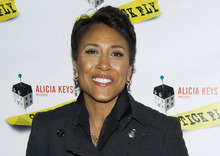 FILE - This Dec. 8, 2011 file photo shows ABC News personality Robin Roberts arriving to the opening night performance of the Broadway play