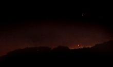 Rick Egan  | The Salt Lake Tribune   Flames light up the sky in the hills above Centerville, Monday, June 11, 2012.